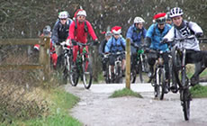 Epping Forest - MTB Xmas ride - 2011 December - Mountain Biking