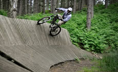 Chicksands - Playing on the drops - 2012 June - Mountain Biking
