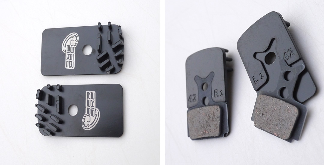 Uberbike Finned Brake Pads Fins Only